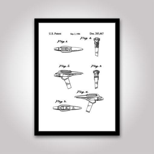 phaser star-trek patentritning poster
