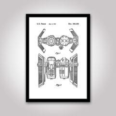 TIE-Bomber starwars patentritning poster