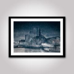 bagers bro mörk regn poster