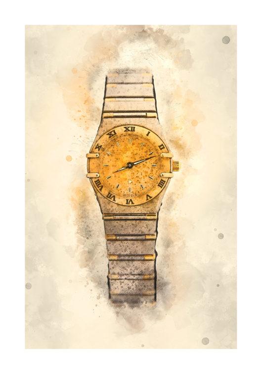 klocka omega poster