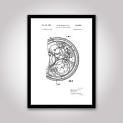 Patentritning poster urverk